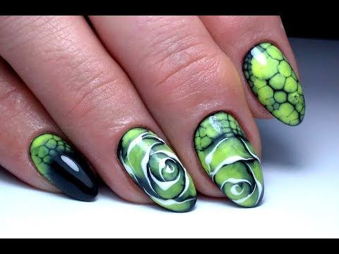 Крутой дизайн ногтей по мокрому Цветок Egoista ТОП удивителные дизайны ногтей - YouTube
