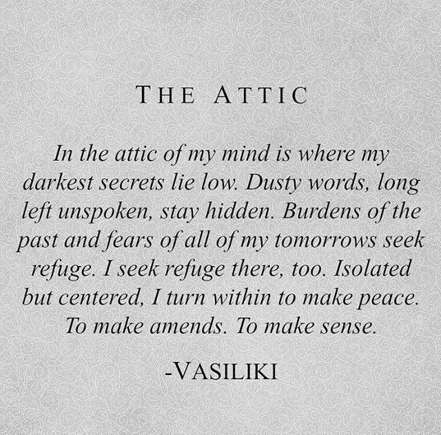 The Attic -Vasiliki (Instagram: vasiliki_poetry)