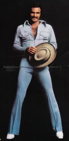 This 1973 album comes with a fantastic double-sided poster, one side of which displays Burt in a zipped down jumpsuit, holding a cowboy hat. Description from recordrobot.blogspot.com. I searched for this on bing.com/images