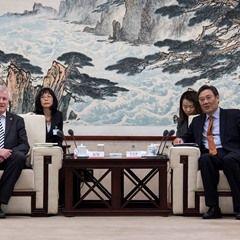 Bavarian Premier Horst Seehofer in China visit