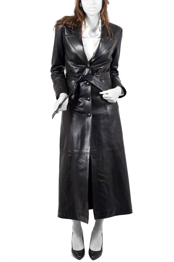 1000  ideas about Long Leather Coat on Pinterest