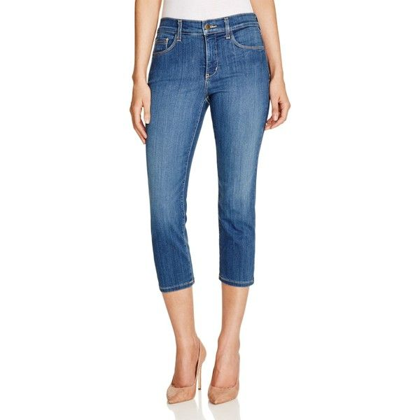 Nydj Karen Skinny Capri Jeans in Anderson ($88) ❤ liked on Polyvore featuring jeans, anderson, skinny capris, nydj capris, blue jeans, skinny capri jeans and super skinny jeans