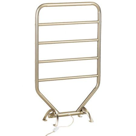 Jerdon Warmrails Traditional Wall Mounted/Free Standing Towel Warmer Rack, Silver