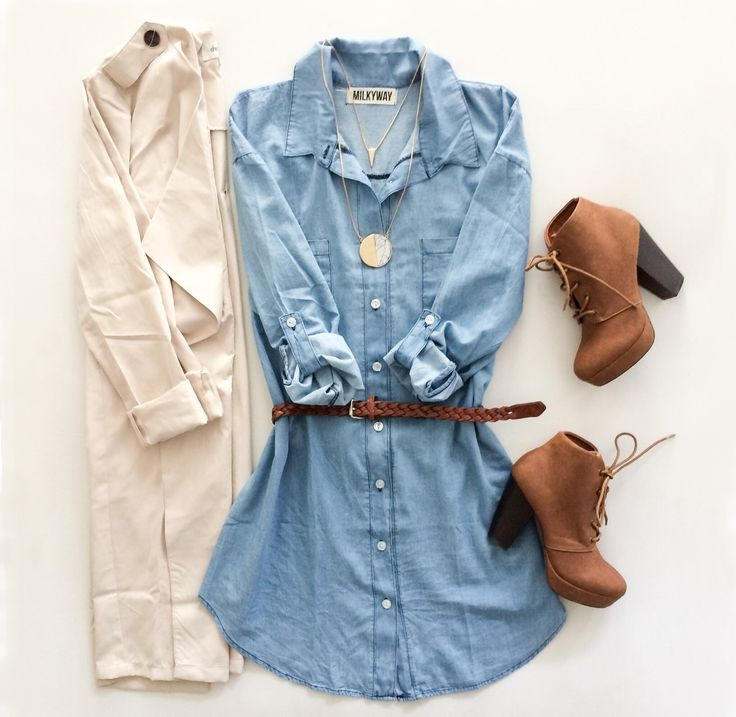 Effortless fall style. Get the look from Charlotte Russe in Galleria Dallas! Fall Style | Chambray | Fashion Trends 2015