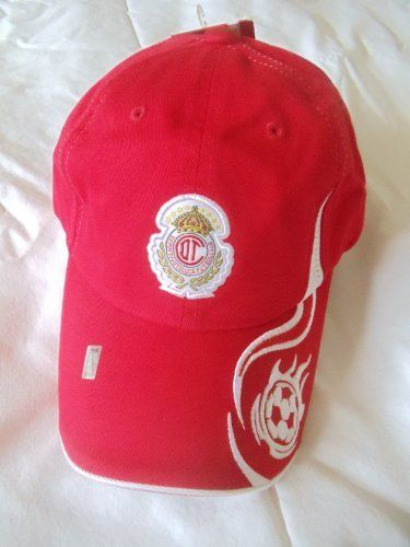 TOLUCA SOCCER TEAM-MEXICO CAP by Atletica. $19.99. FMF OFFICIAL LICENSED PRODUCT. ONE SIZE FITS ALL.. THIS IS AN OFFICIAL LICENSED PRODUCT FROM FEDERACION MEXICANA DE FUTBOL....AND CLUB DEPORTIVO TOLUCA....THIS CAP WOULD BE A NICE GIFT FOR A SPECIAL TOLUCA FAN....ORDER NOW !!!