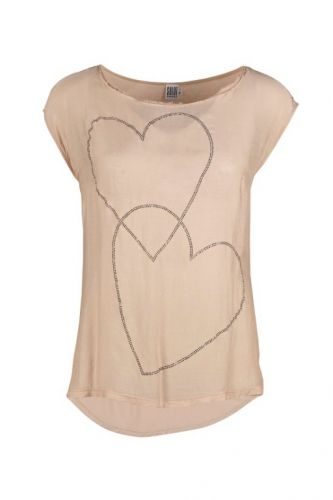 Saint Tropez Top With Hearts Powder - Toppe - MaMilla