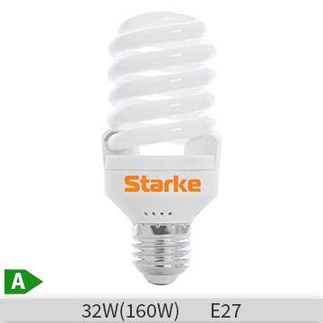 Bec economic spirala STARKE Alfa 32W, E27, 8000 ore, lumina calda