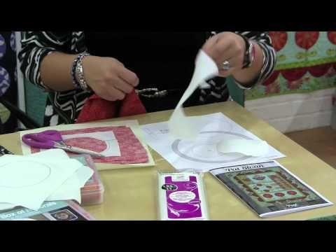 ▶ Pat Sloan Demonstrates Fusible Applique Techniques - 2013 Fall Quilt Market - YouTube