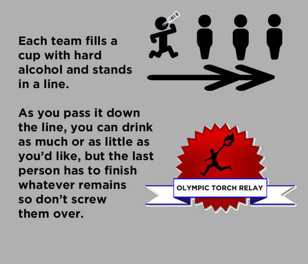 The Ultimate Olympics Drinking Games---this sounds like everyone is going to pass out with alcohol poisoning