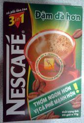 Вьетнамский изумительный черный кофе Dam Da Hon - Nescafe 3 in 1 - быстрорастворимый натуральный - 20 пакетиков в упаковке. Пр-во Вьетнам.