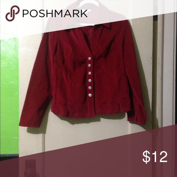 Lady's button down coat Ladies red button down coat very soft very nice Dress Barn Jackets & Coats Blazers