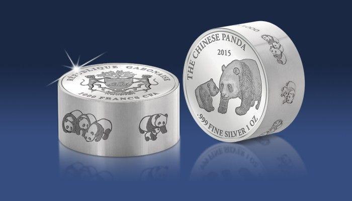 Najgrubsza srebrna moneta o wadze 1 uncji - Panda