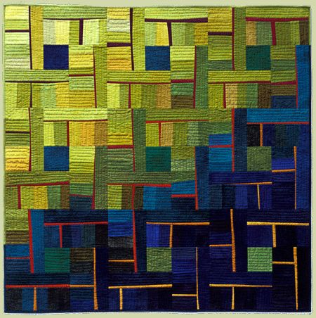 """image of quilt titled """"Light into the Deep"""" by Cory Volkert © 2005"""