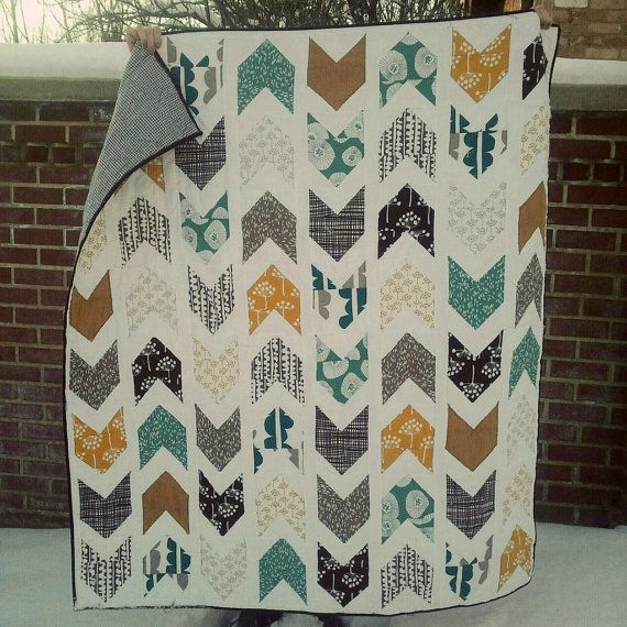 Custom made arrow quilt- various sizes and colours- deposit. $80,00, via Etsy.
