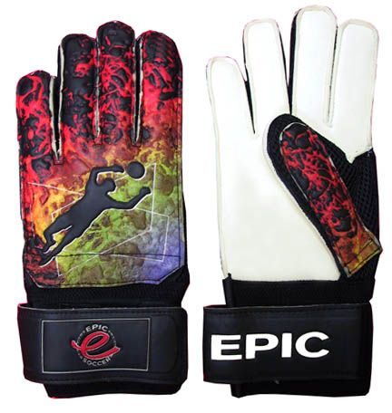 E758 Hot Lava (Finger-Protected) Soccer Goalie Gloves
