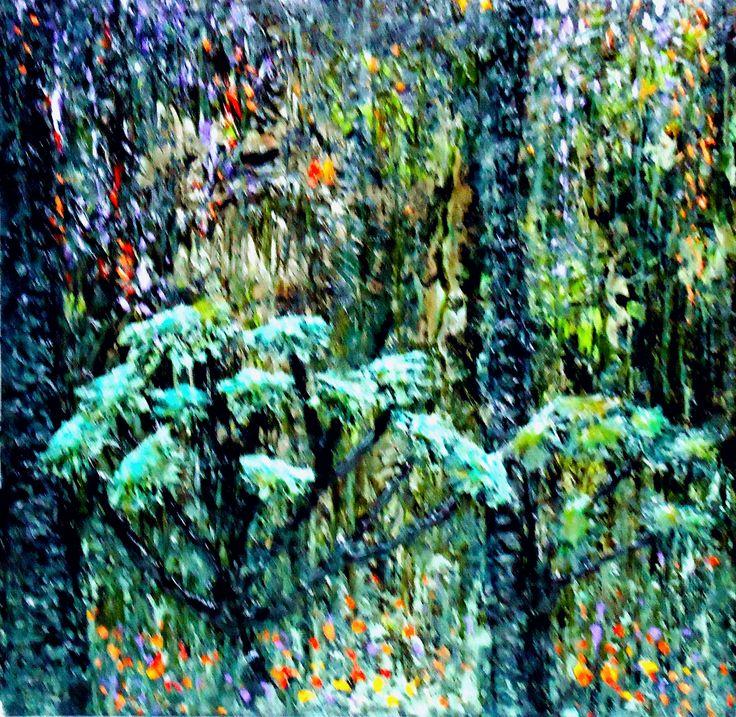 """""""Brazil, tropical symphony"""" c/a, palett-knife, picture by Marina RAYKOVA"""