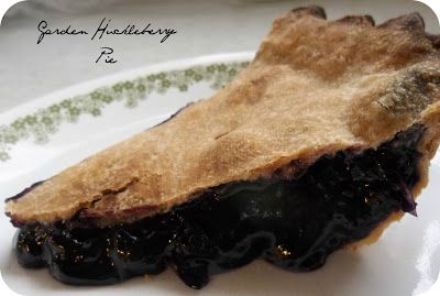 The Distracted Housewife: Canning Garden Huckleberry Pie Filling