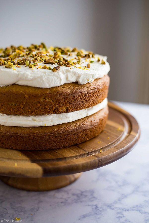 Gâteau à la pistache et au citron   – food