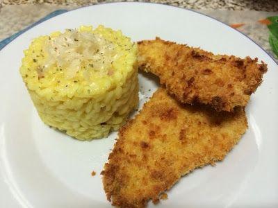 Na Cozinha com os J's: Rissoto de bacon e açafrão com filetes de pescada ...