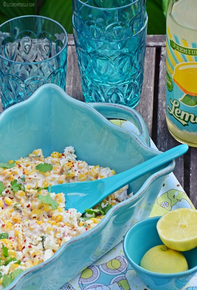 luzia pimpinella | rezept - mexikanischer maissalat mit feta | recipe - mexican corn salad with feta cheese
