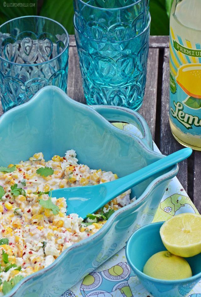 mexikanischer maissalat mit feta . Koriander!