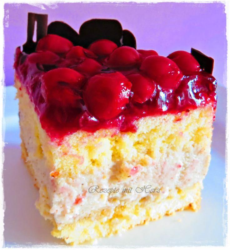 Thermomix - Rezepte mit Herz : Kirsch-Panna-Cotta-Torte