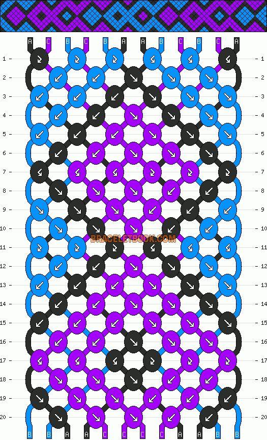Normal Friendship Bracelet Pattern 3238 Braceletbook Bracelets Patterns