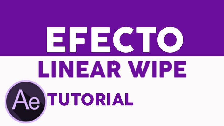 LINEAR WIPE After Effects Tutorial