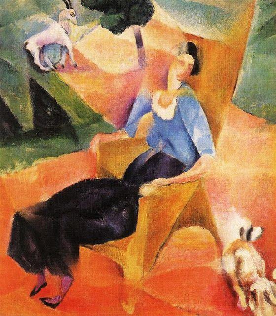 Robert Bereny (Hungarian artist, 1887-1953)  Woman in Arm Chair 1923