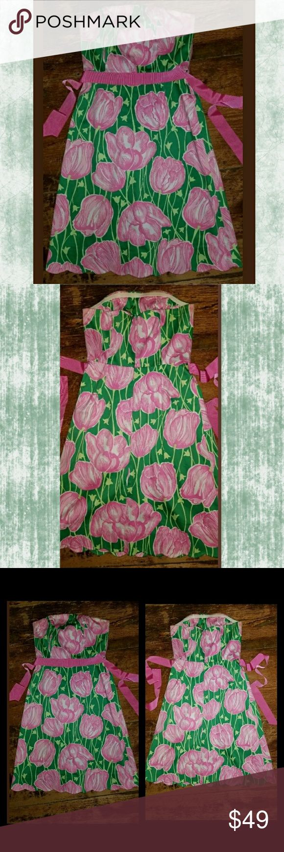 I just added this listing on Poshmark: Lilly Pulitzer Tulip print strapless dress SPRING!. #shopmycloset #poshmark #fashion #shopping #style #forsale #Lilly Pulitzer #Dresses & Skirts