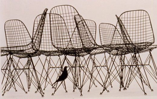 Wire Mesh Chair, 1951-1953  Bent steel, welded steel  Design: Charles and Ray Eames