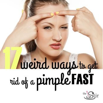 Lots of ways to banish a blemish (almost) instantly. http://thestir.cafemom.com/beauty_style/162442/17_weird_ways_to_almost