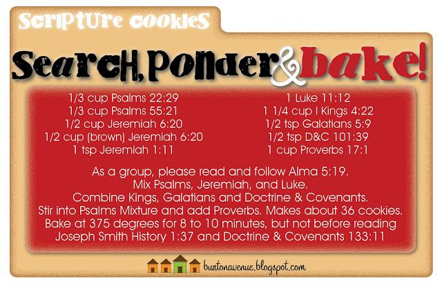 Burton Avenue: Search, Ponder & Bake! Scripture Cookies