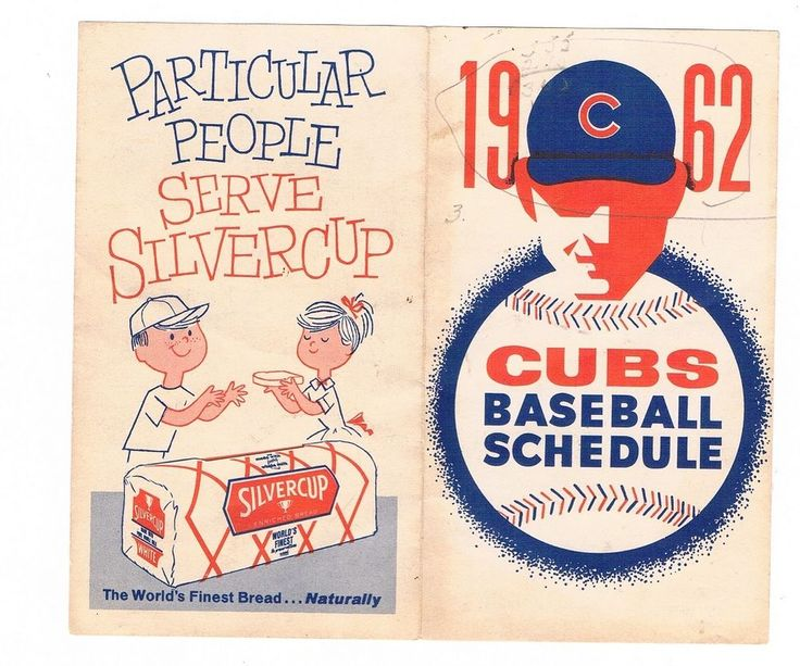 1962 CHICAGO CUBS. fold-out baseball schedule - AS IS #Pocket