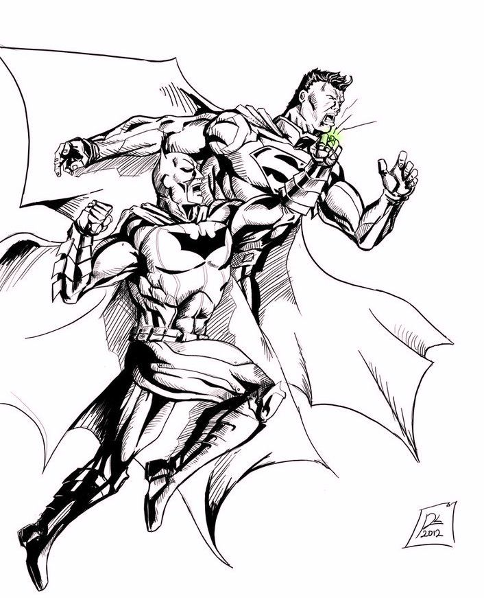Batman Vs Superman Coloring Pages | Superman coloring ...