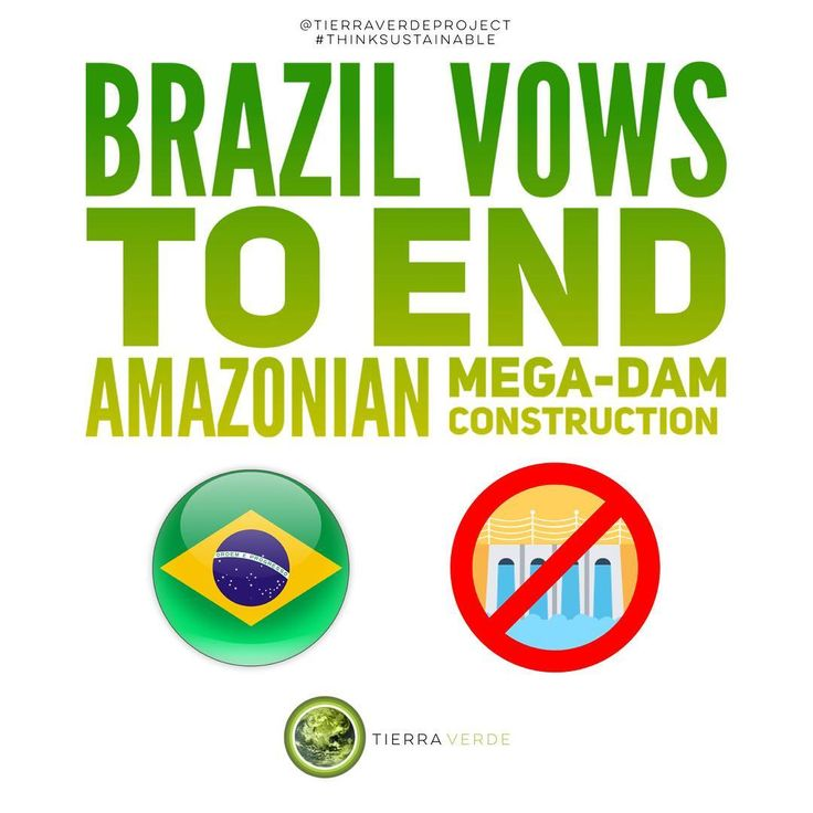 Sustainability for Brazil!  Way to go Brazil! This is awesome! While understand that hydropower is a renewable sources we also acknowledge that the construction of a mega-dam will jeopardize the already fragile Amazonian ecosystem one of sources of oxygen. Were sure that you will find alternative places to build renewable energy projects.  Think sustainable!  Reference: Renewable Energy World