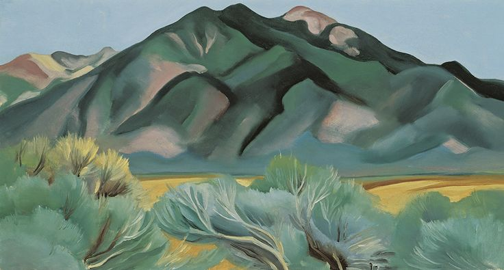 "Lindsay Essay   Georgia O'Keeffe's New Mexico   Georgia O'Keeffe, ""Taos Mountain, New Mexico,"" 1930. Image via Hood Museum of Art."