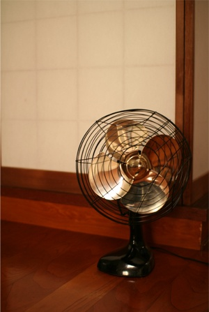 Japanese electric fan  http://www.roomflavor.com/room.php?2857