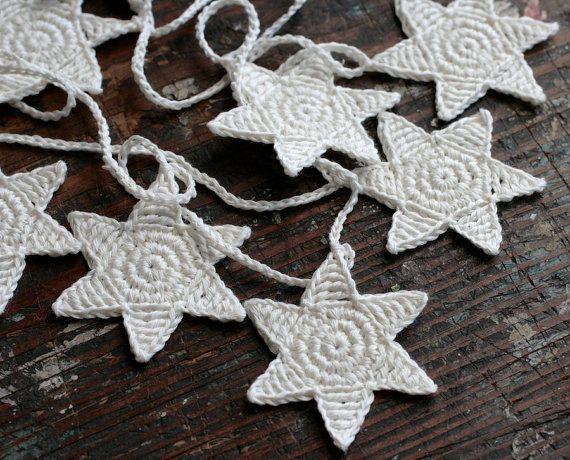 girlang virka stjärnor jul julpynt inspiration tips dekorera ide handarbete