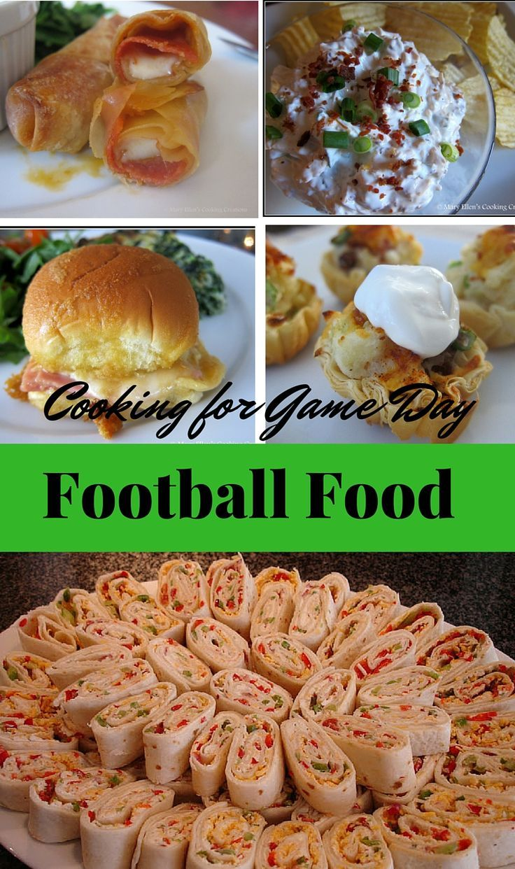 The best appetizers and entrees for watching football or the big game. Football Sundays and good food - the perfect combination!