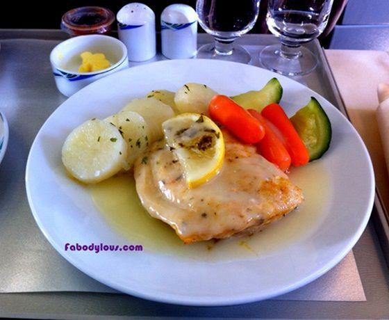 Cod Fish, My In-Flight Meal on Slikair!