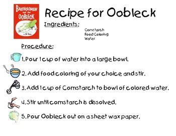 Dr. Seuss Oobleck Recipe
