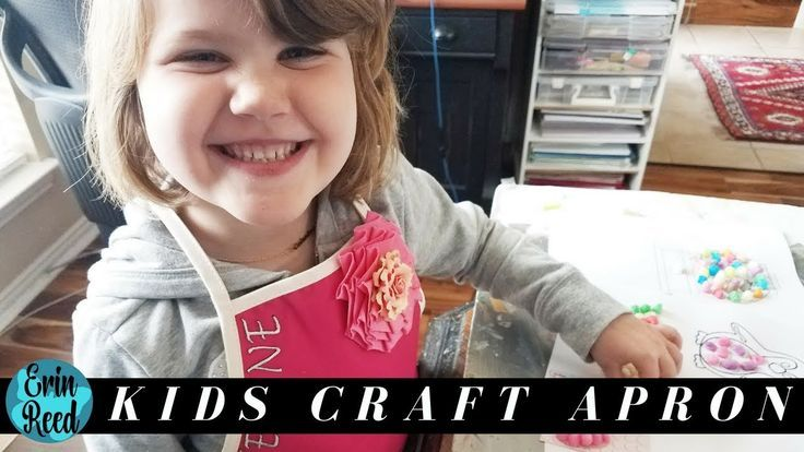 How to Make an EASY Monogrammed Kids Apron #thanks4watchingart