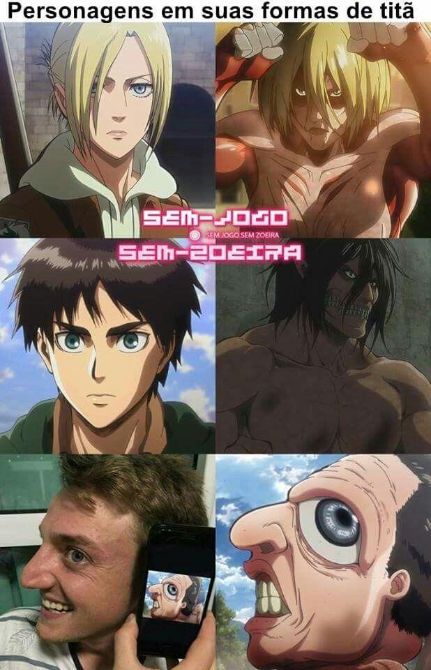 Personajes en su forma de titan