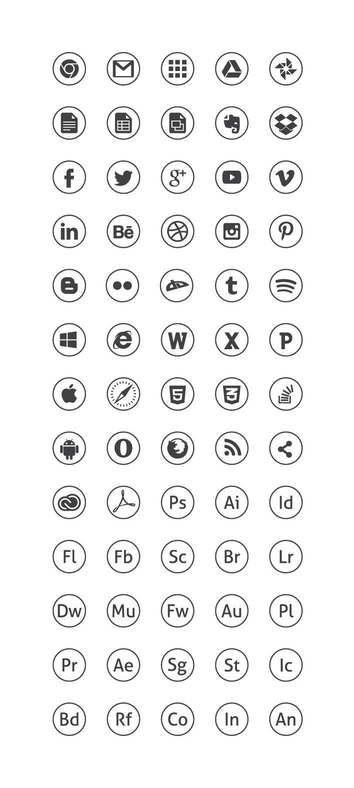 Circle black icons by michal waclaw kulesza 01