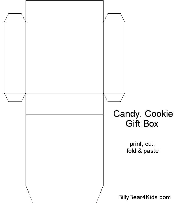 chocolate boxes template | BillyBear4Kids.com Gift - Candy - Cookie Box Templates
