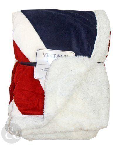 Mantas suaves (130 x 160 cm), diseño vintage de la bandera de Reino Unido, color rojo, azul y crema - http://vivahogar.net/oferta/mantas-suaves-130-x-160-cm-diseno-vintage-de-la-bandera-de-reino-unido-color-rojo-azul-y-crema/ -