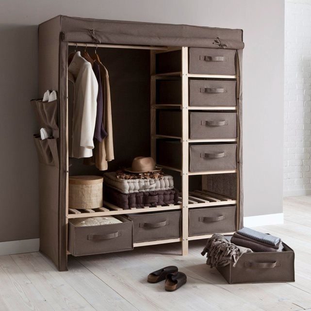 garderobe double tiroirs fedra la redoute interieurs with armoire dressing la redoute. Black Bedroom Furniture Sets. Home Design Ideas