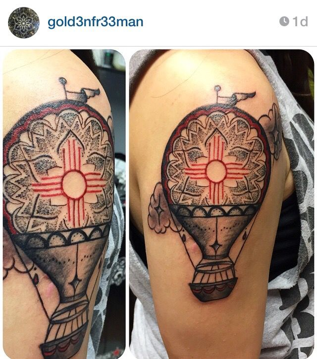 New Mexico, Zia, Hot Air Balloon tattoo