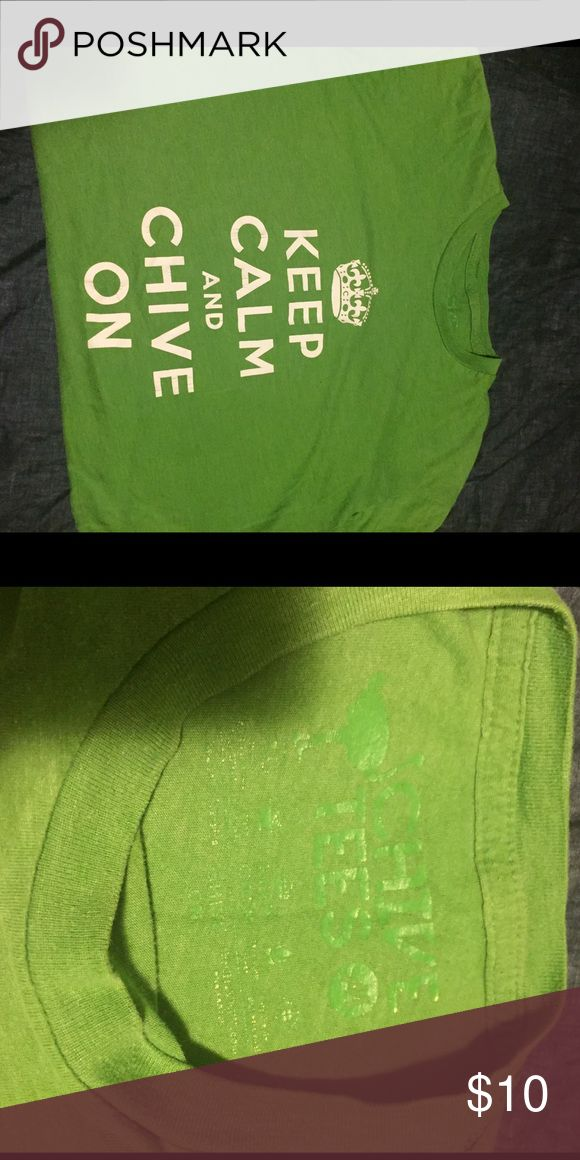 The chive shirt Keep calm and chive on, green t shirt from the chive chive Tops Tees - Short Sleeve